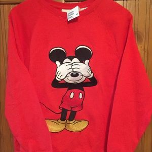 Mickey Mouse embroidered sweatshirt large NWT